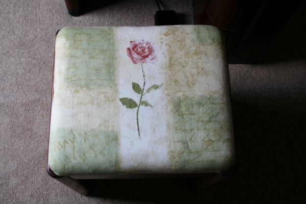 Cushion on Art Deco Cabinet Stool