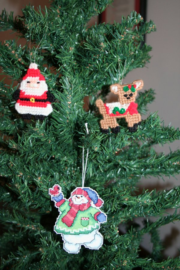 Plastic Canvas ornaments