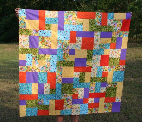 Smiling Sunflower Blocks sewn together
