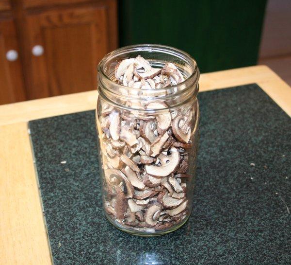 All those mushroom fit in a one quart jar