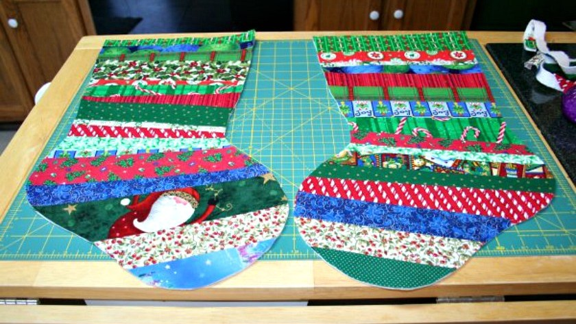Quilt-As-You-Go Christmas Stocking Tutorial – Part Two