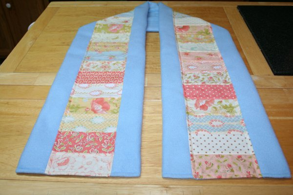 Completed patchwork scarf