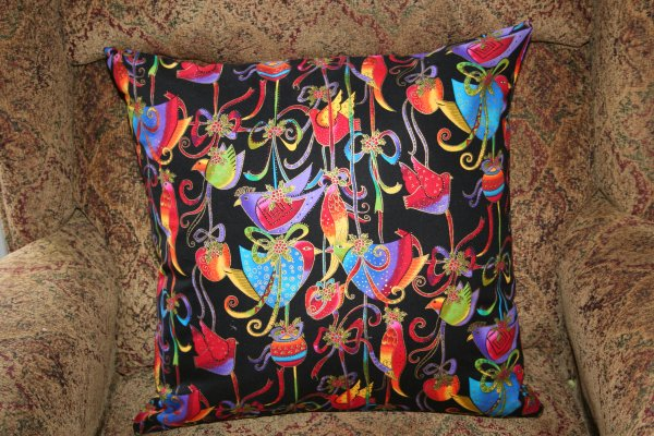 Laurel Burch pillow back