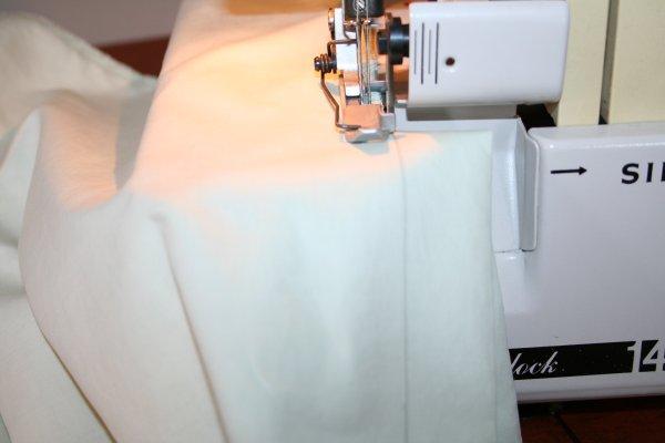 Sew along line drawn