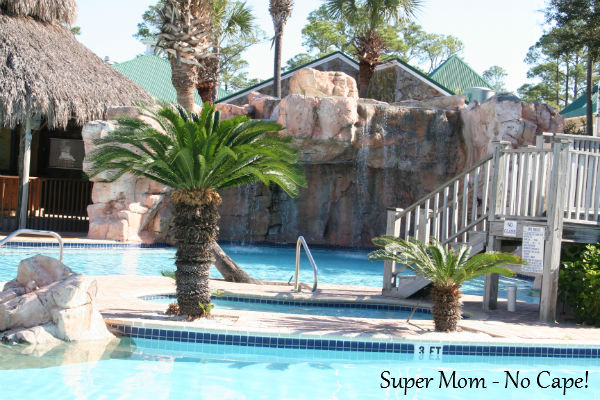 Our door pool and hot tub. During the busiesr season there is a Tiki Bar that is open as well.