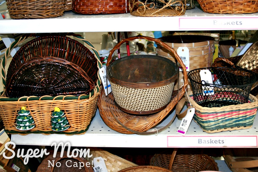 Start Collecting Baskets - Christmas Themed Baskets at Thrift Store