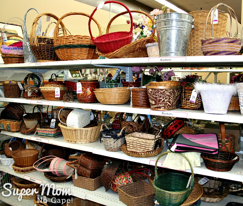 Start Collecting Baskets - Shelves Full of Baskets at Thrift Store