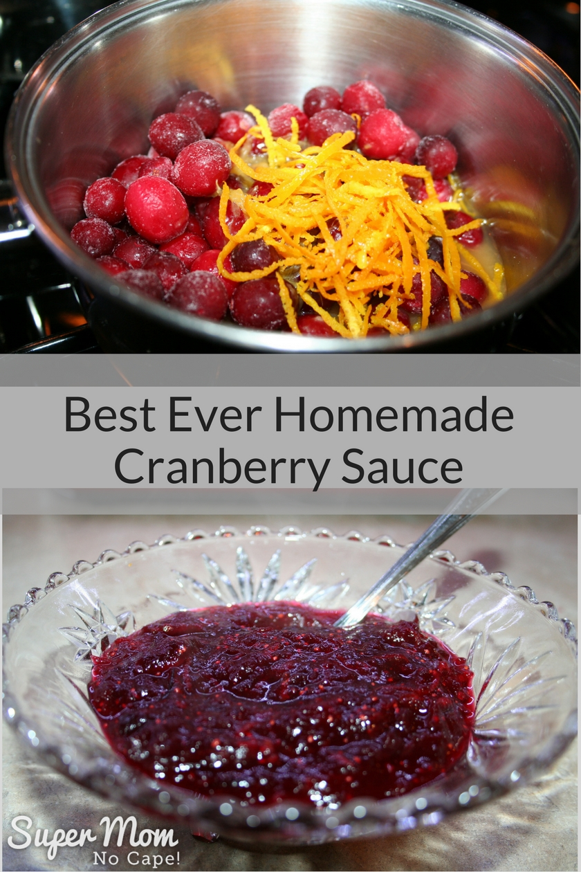 Best Ever Homemade Cranberry Sauce