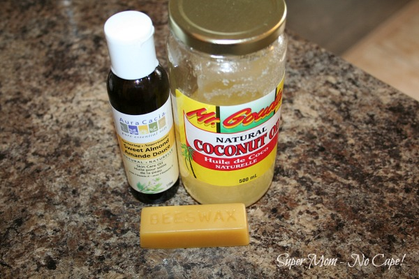 Photo of ingredients for homemade lotion bars.