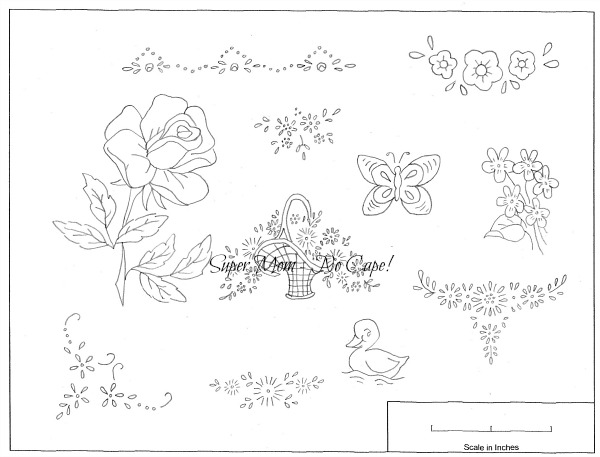Vintage Workbasket small embroidery patterns from page 78
