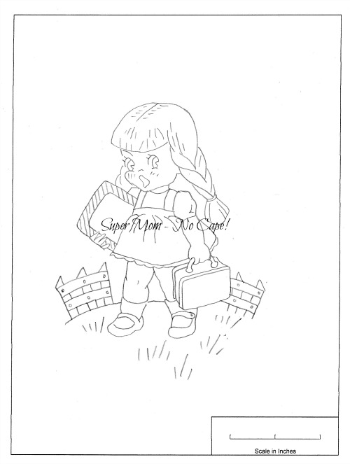 Vintage Workbasket Embroidery Pattern of a Schoolgirl from Pattern page 80