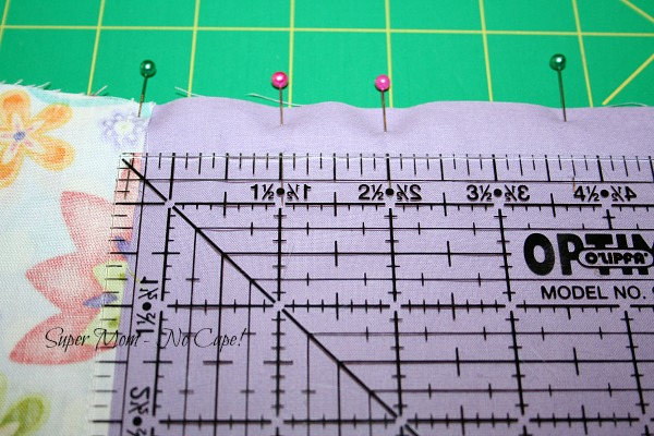 Pin bags sections together and sew