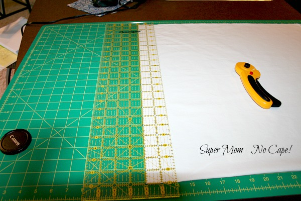 how to cut width of fabric