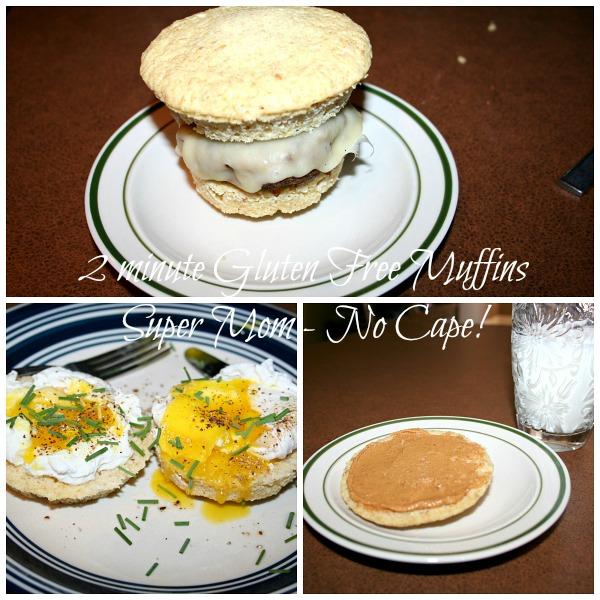 Gluten free muffin served three different ways