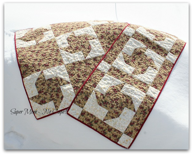Paper Pinwheel Bed Runner and Lap Quilt