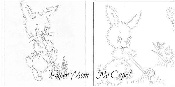 Large Vintage Easter Bunny Patterns