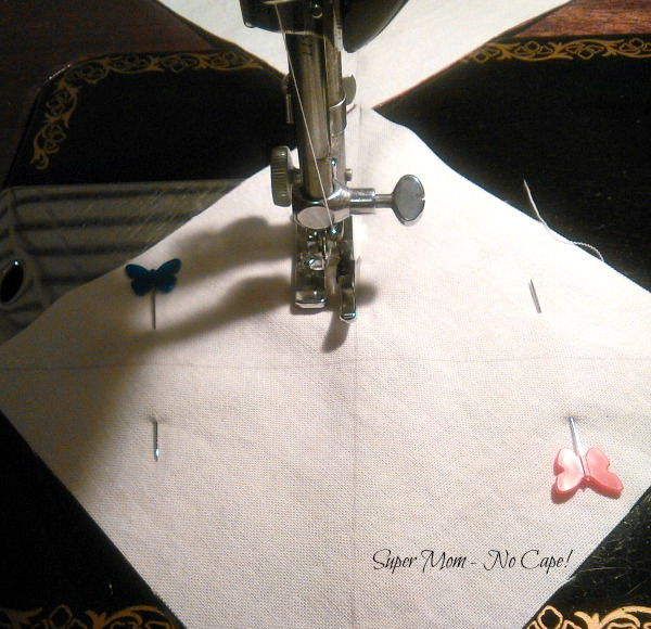 Sewing 8 hst at once