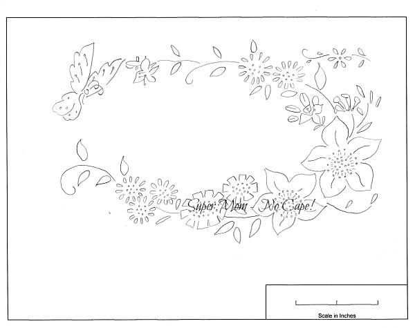 Workbasket Pattern for Butterfly Flower Wreath