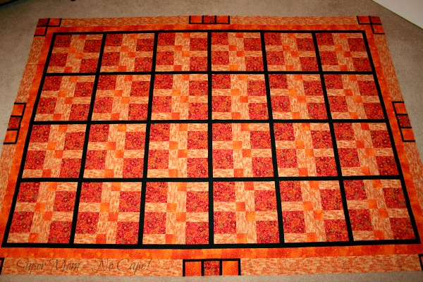 Orange DP9 patch taken from overhead