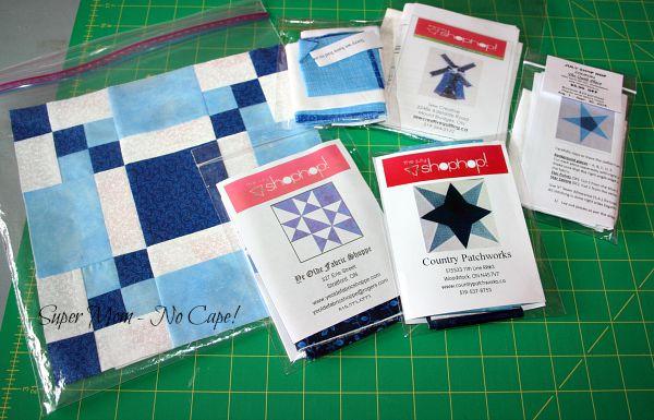 July Shop Hop Block kits