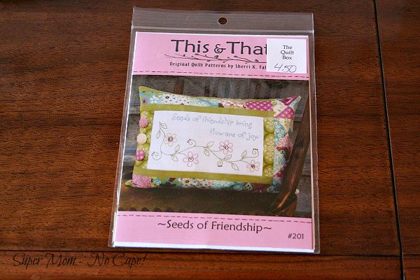 Pattern for Seeds of Friendship embroidery