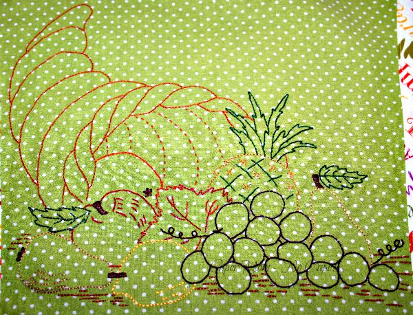 Embroided Cornucopia from Vintage Workbasket Pattern Page 65