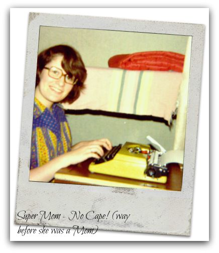 Me with my new typewriter way back when