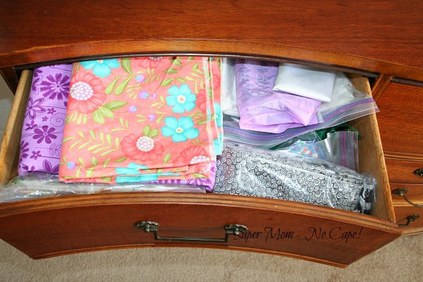 My fabric dresser - drawer #1