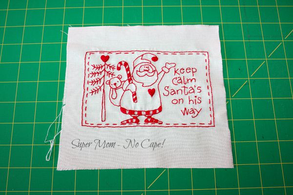 Santa is on his way embroidery