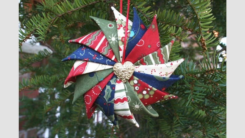 Prairie Point Star Ornament Tutorial