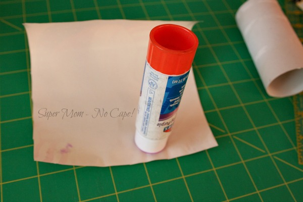 Step 2 - Glue all around four sides of paper