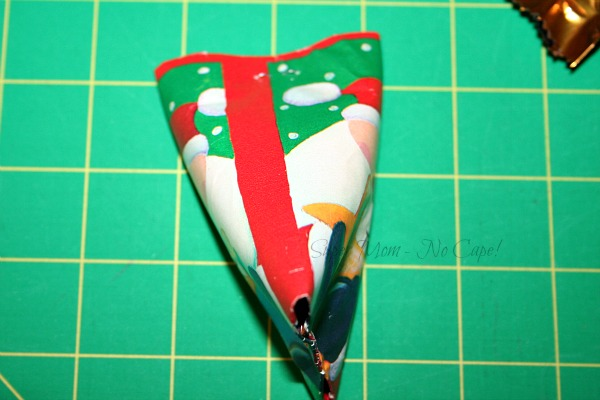 Step 8 - Fold top in opposite direction and staple