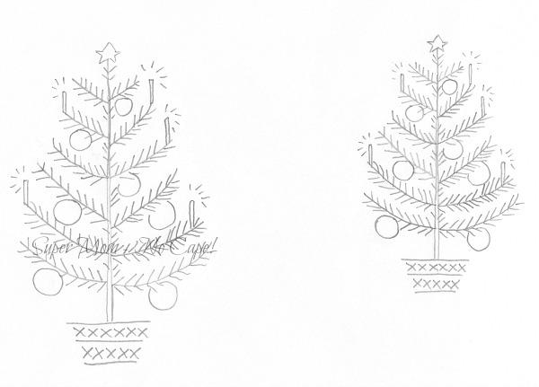 Vintage Workbasket Magazine Christmas Tree in 2 Sizes