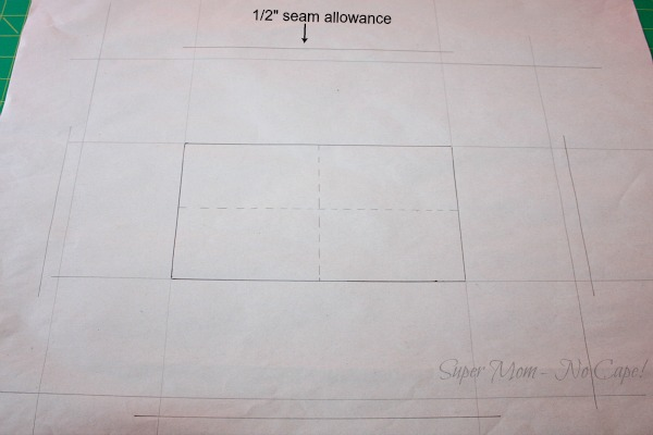 12. Add the seam allowance to the sides and ends - 1
