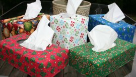 Reversible Tissue Box Cover Tutorial - Christmas Tissue Box Covers