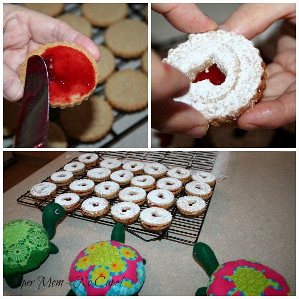 Photo Collage of putting the cookies together
