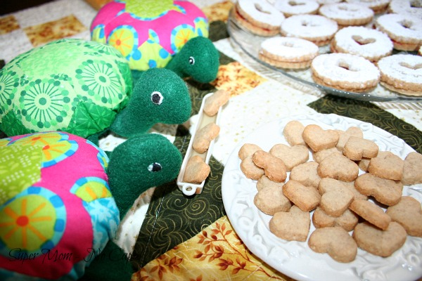 34. All the turtles dunking their cookies in their tea