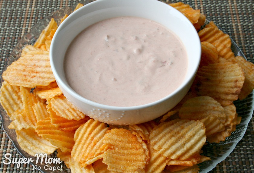 Easiest Dip Ever and Chips