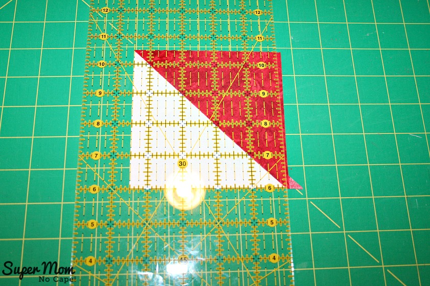 Maple Leaf Blocks - Step 5B square up the hsts to 4 and a half inches
