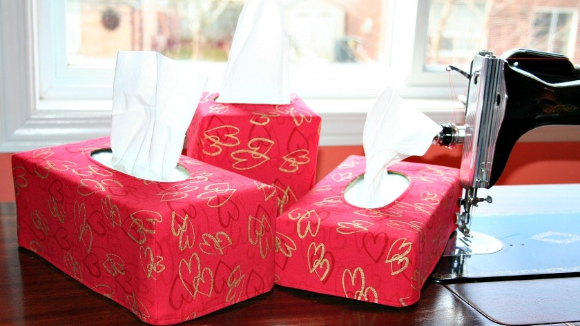 Valentine's Tissue Box Covers