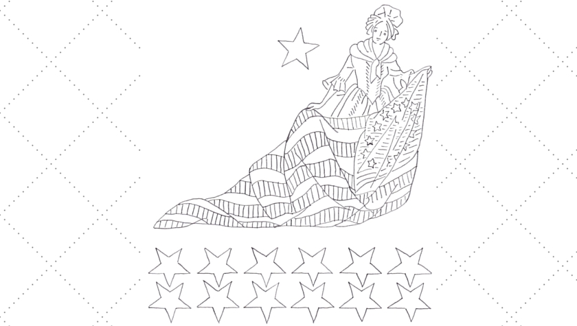 Vintage Workbasket Embroidery Pattern - Betsy Ross and the US Flag - 1