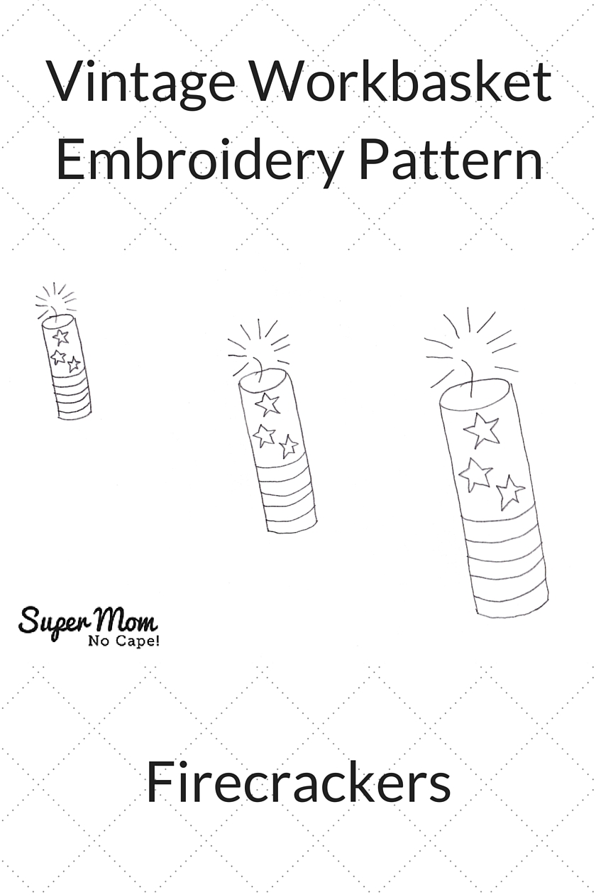 Vintage Workbasket Embroidery Pattern - Firecrackers