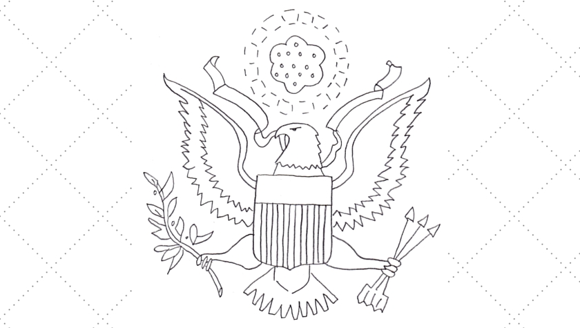 Vintage Workbasket Embroidery Pattern -- Great Seal of the USA