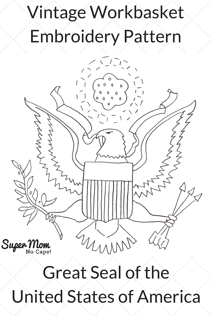 Vintage Workbasket Embroidery Pattern - Great Seal of the United States of America
