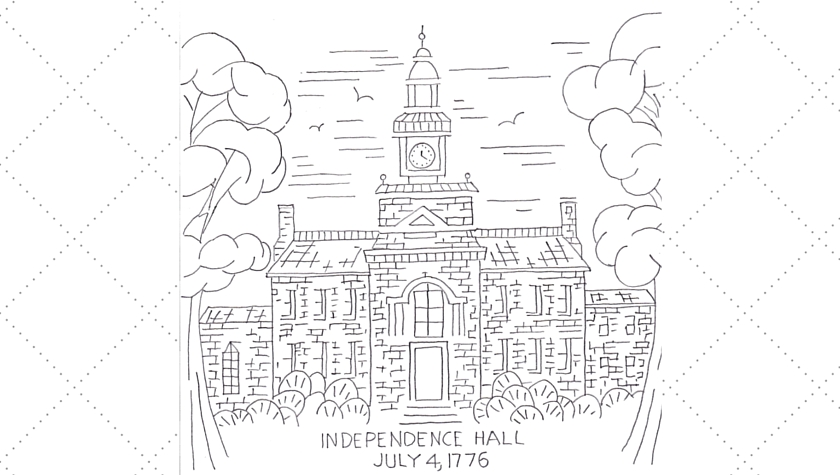 Vintage Workbasket Embroidery Pattern - Independence Hall