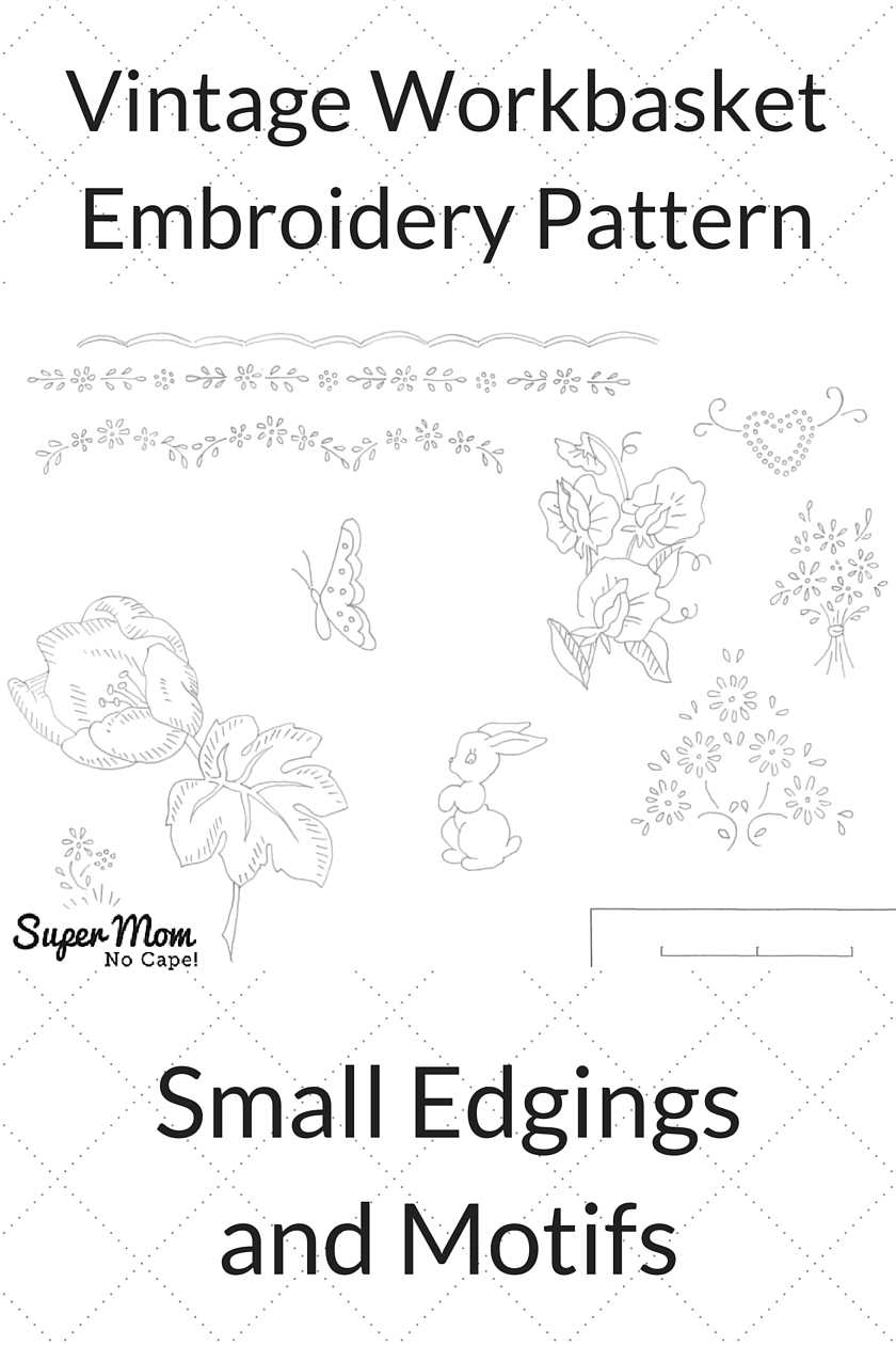 Vintage Workbasket Embroidery Pattern - Small Edgings and Motifs