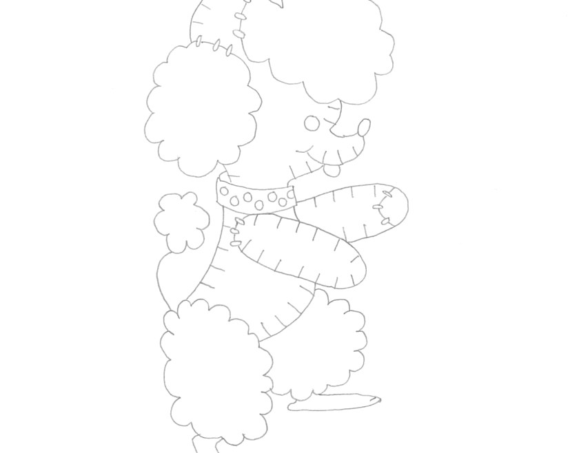 Vintage Workbasket Embroidery Pattern - Stuffed Toy Poodle