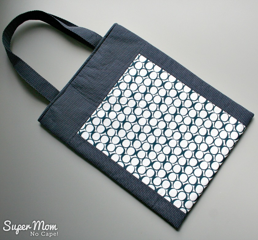Back of tote featuring Pebble Shadows Round Elements by Art Gallery Fabrics