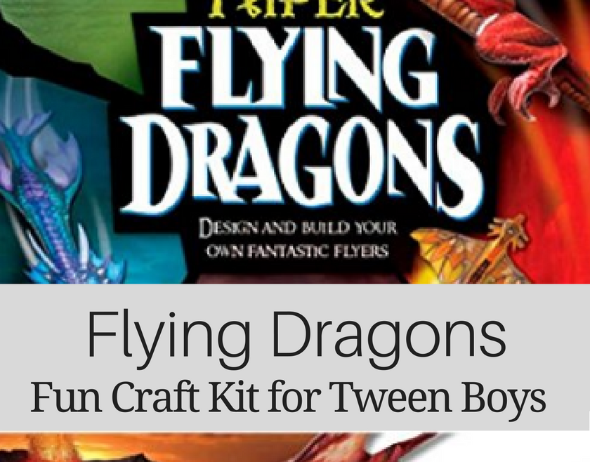 Great Gift Ideas for Tween Boys - Flying Dragons Craft Kit