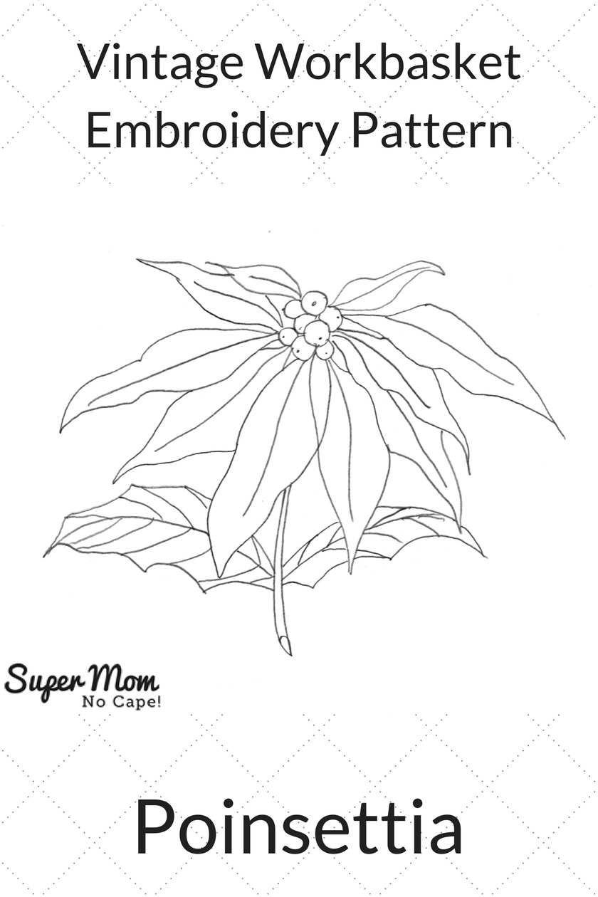 Vintage Workbasket Embroidery Pattern - Poinsettia